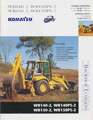 Retrocargadoras Komatsu WB 150-2