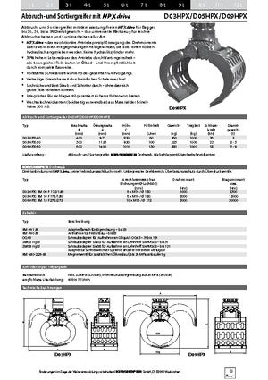 Cucharas clasificadoras de demolición Kinshofer D 03 HPX 40