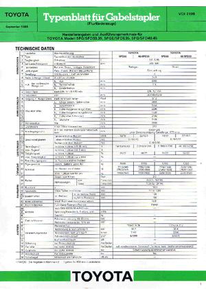 Carretillas elevadoras frontales diesel Toyota 02-5 FD 33
