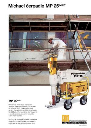 detailed mp 25 mixit 3x400 60 jp wp d8 2 putzmeister cz. Black Bedroom Furniture Sets. Home Design Ideas