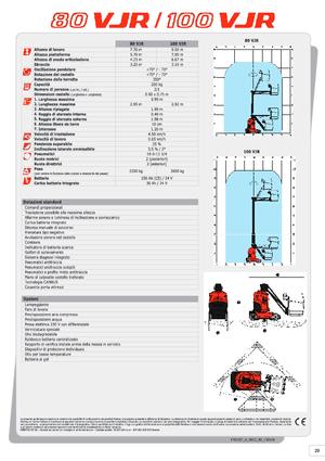 Plataforma de mástil vertical sobre ruedas Manitou 100 VJR Evolution