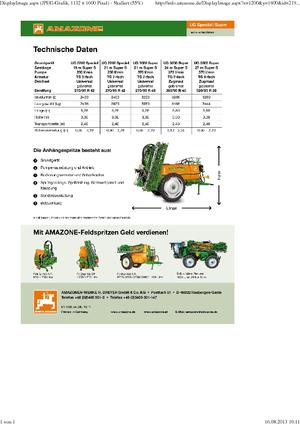 Pulverizadoras remolcables Amazone UG 3000 Spezial (21)